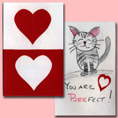 Easy construction paper Valentines
