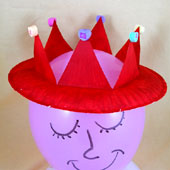 Valentine crown craft project