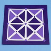 Paper pieced Picaria game board