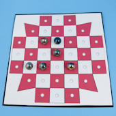 French Board Solitaire marble game board