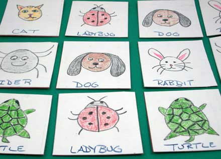 Create a Memory Game Card Set- Games To Make - Aunt Annie's Crafts