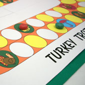 Closeup of Turkey Trot game board