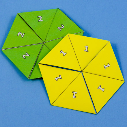 How To Make A Flexagon  Geometric Toys To Make  Aunt AnnieS Crafts