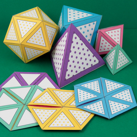 How To Make A Flexagon - Geometric Toys To Make - Aunt Annie'S Crafts