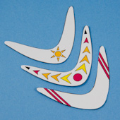 how to make a really easy paper boomerang