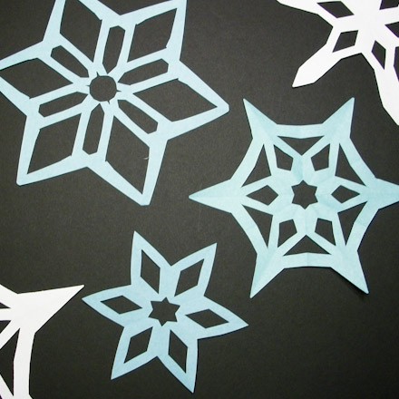 Symmetry In Snowflakes Geometric Toys To Make Aunt Annie's Crafts Cool Snowflake Cutting Patterns