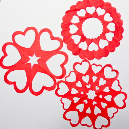 Valentine Heart Snowflake Patterns  Symmetry In Snowflakes  Aunt