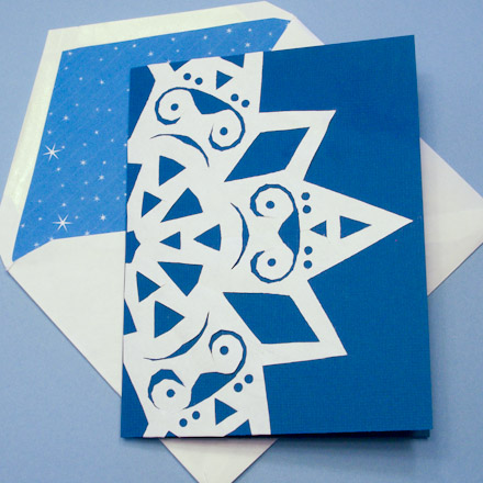 Symmetry in snowflakes geometric toys to make aunt annies crafts greeting card decorated with a paper snowflake m4hsunfo
