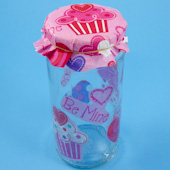 Candy jar with lid cover