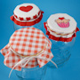 Valentine Jar Lid Covers