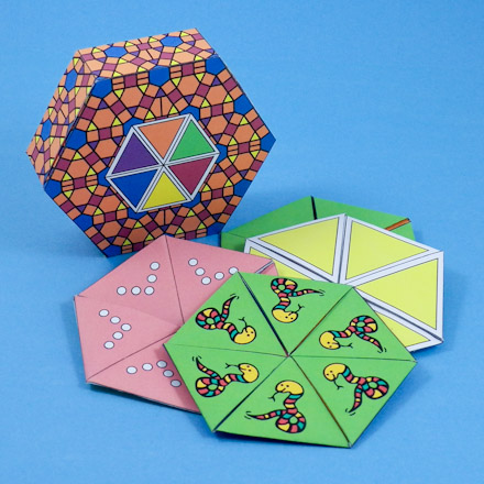 How To Make A Hexa-Hexaflexagon - Geometric Toys To Make - Aunt