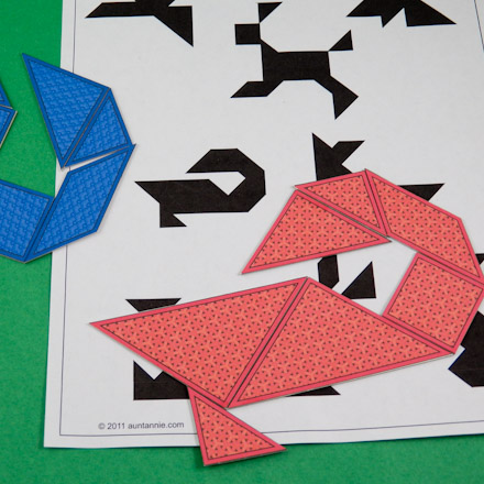 It is a picture of Tangrams Printable Pdf within hard 7 piece