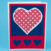 Paper applique card with heart