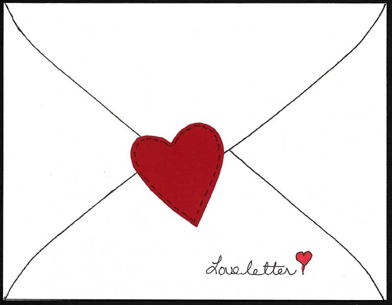 Make Paper Applique Heart Valentines