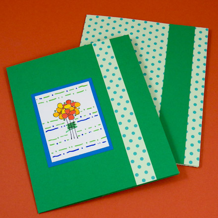 Tutorial For Making A Greeting Card Pocket Folder