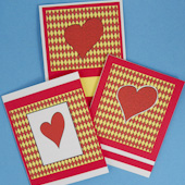 Three card set for Valentine's Day