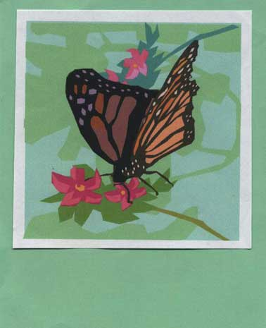 Black And White Butterfly Clipart. Butterfly clip-art - green mat