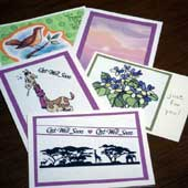Matted clip-art cards