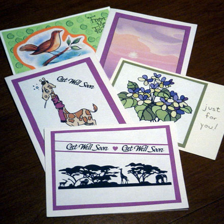 How to make matted clip art and photo cards tutorial greeting card how to make matted clip art and photo cards tutorial greeting card class aunt annies crafts m4hsunfo