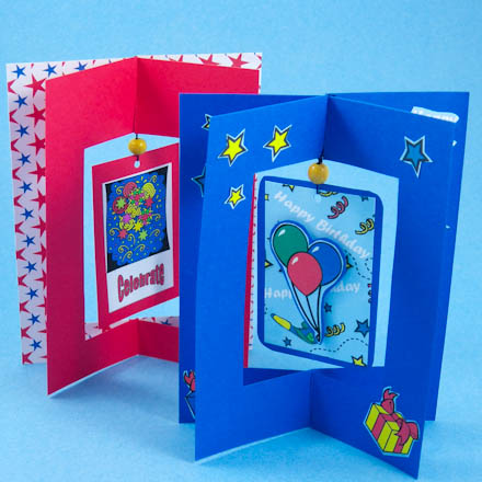 Card making idea dangler card tutorial greeting card for Craft supplies for card making
