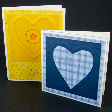 Making embossed greeting cards tutorial greeting card class aunt example cards with embossing m4hsunfo
