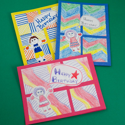 Kids Four Patch Birthday Cards