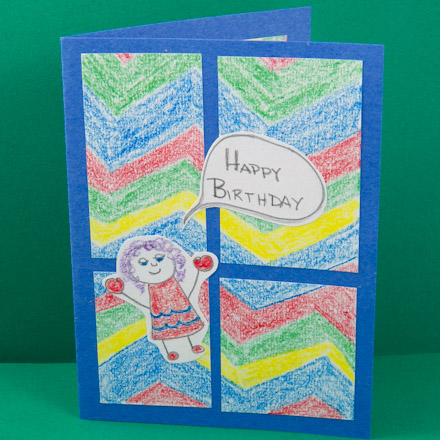 Are You Ready Okay Get Started Kids Four Patch Birthday Card