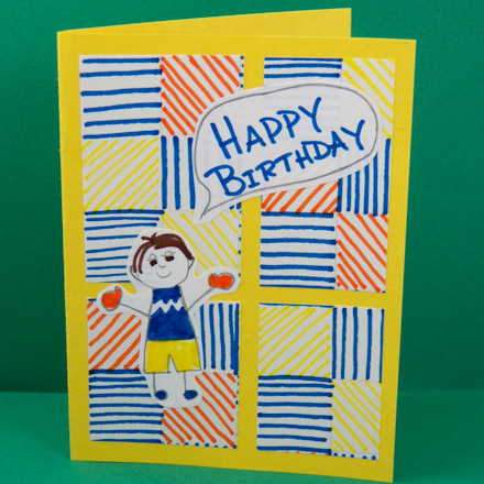 Birthday Greeting Drawing Images Greeting Card Designs Simple
