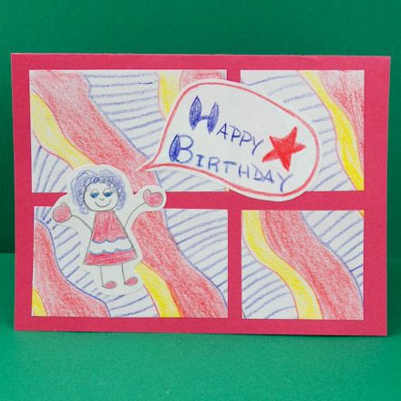 Image result for pictures of birthday card drawn by kids drawing