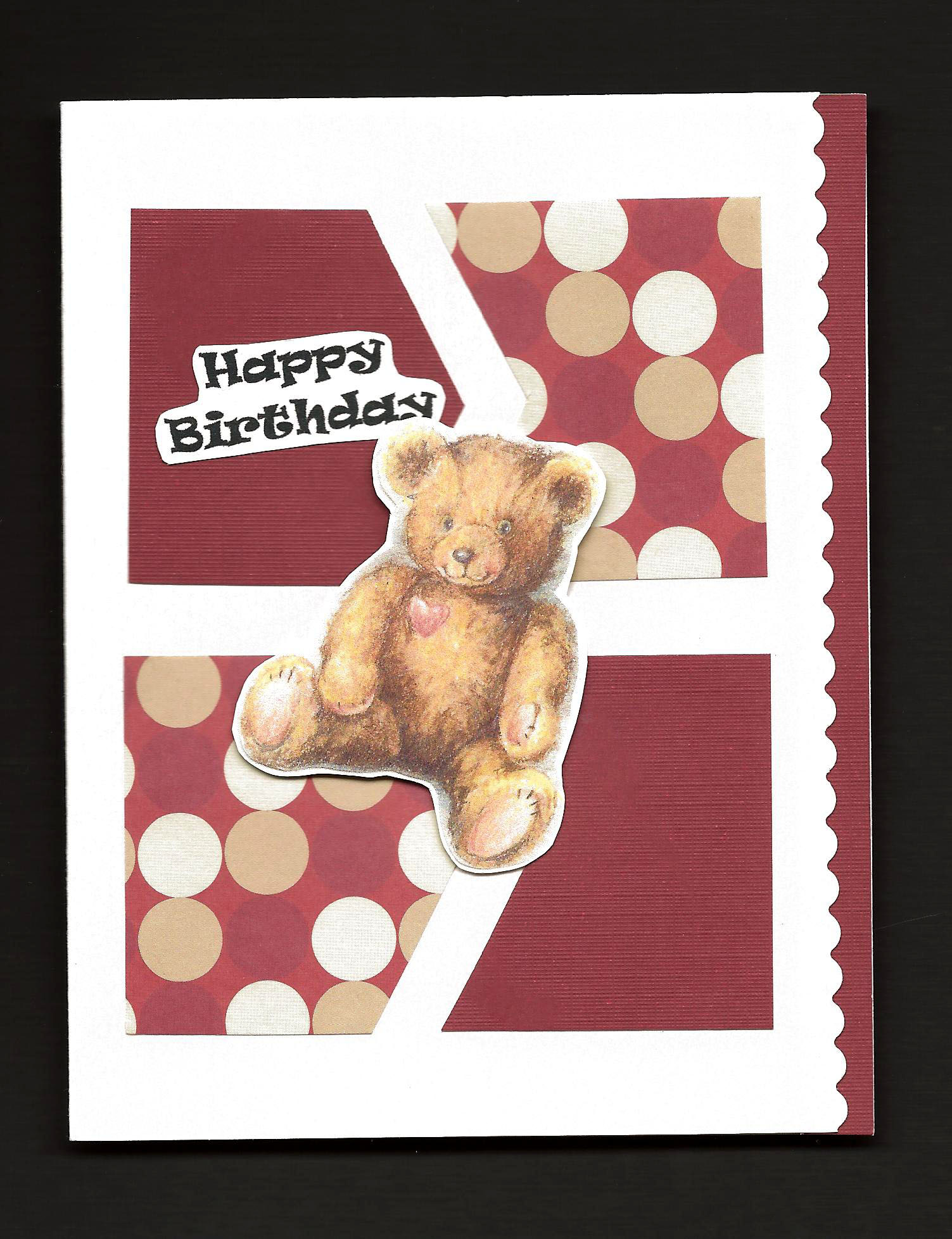 Make a card for him greeting card ideas aunt annies crafts four patch greeting card with teddy bear embellishment kristyandbryce Images