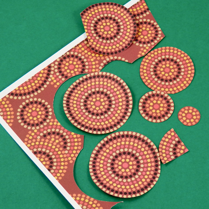 how to cut many circles in paper
