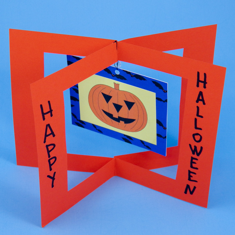 Halloween Cards To Make Ideas Part - 34: ... Halloween Card With Large Jack-ou0027-lantern Dangler
