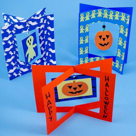 Make 3 D Halloween Dangler Cards Greeting Card Ideas Aunt