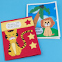 Lion and Tiger Cutout Birthday Cards for Kids