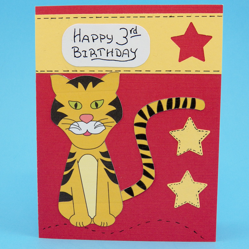 Make Lion And Tiger Birthday Cards For Kids Greeting Card Ideas