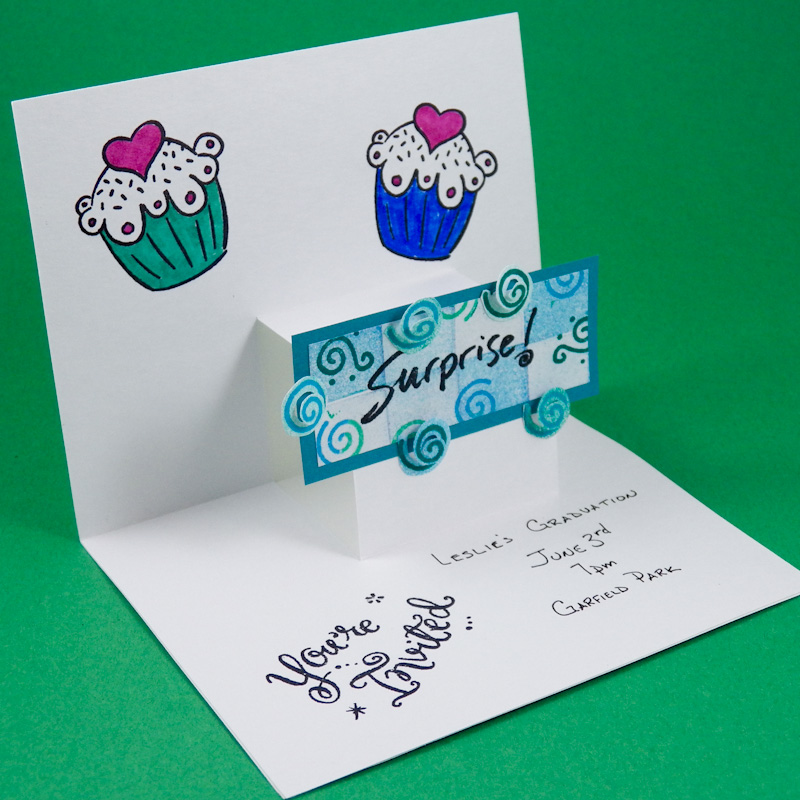 card clip art invitation pop up - Make A Pop Up Card