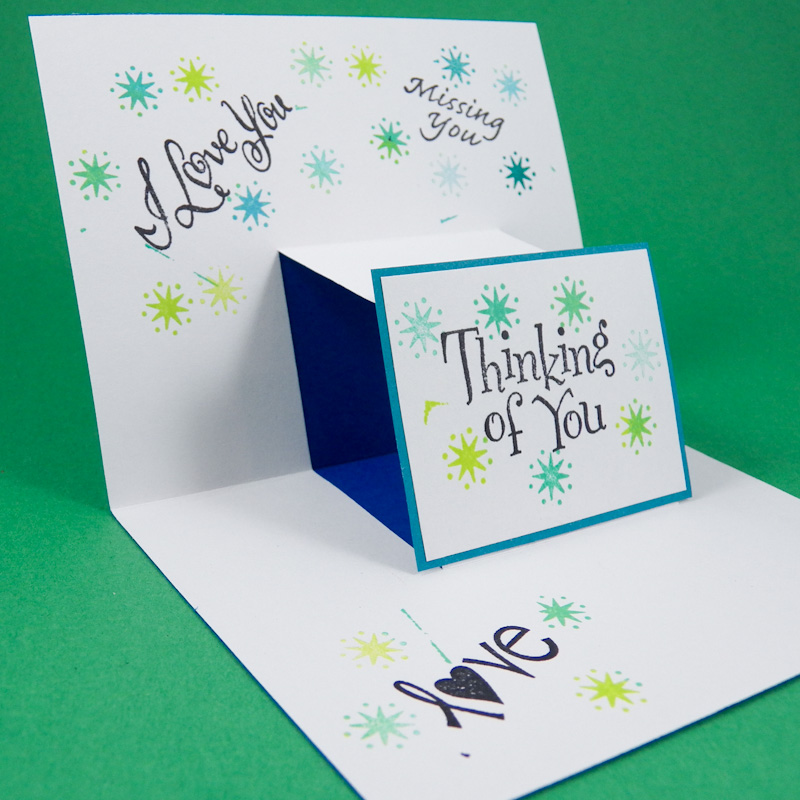 Step pop up cards greeting card ideas aunt annie 39 s crafts for How to make folded christmas cards