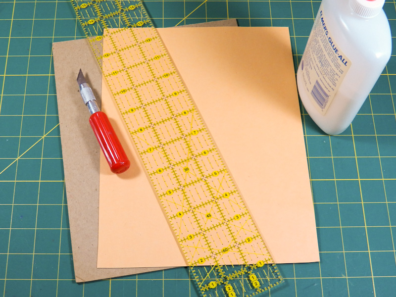 Make a diy scoring and embossing board greeting card ideas aunt step 1 prep items needed to make diy scoring board m4hsunfo