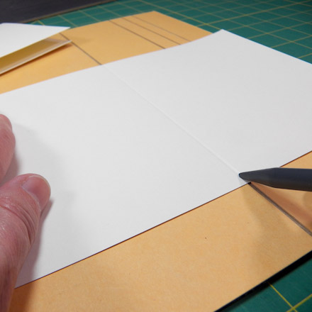 Make a diy scoring and embossing board greeting card ideas aunt diy scoring and embossing board m4hsunfo