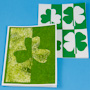 Shamrock Silhouette Cards