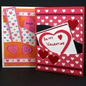 Sweetheart cards with pockets