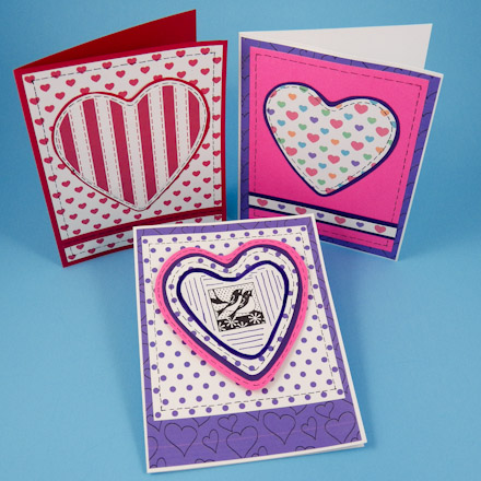 Make Paper Applique Heart Valentines Greeting Card Ideas Aunt