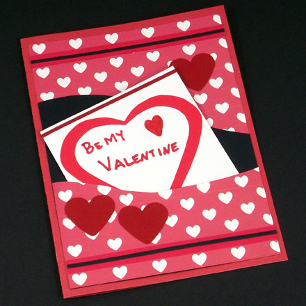 Example of pocket card made with Valentine ePaper
