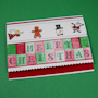 Ribbon Edge Christmas Card