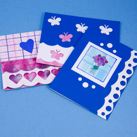 Card Making Idea Scalloped Edge Card Tutorial Greeting Card Class