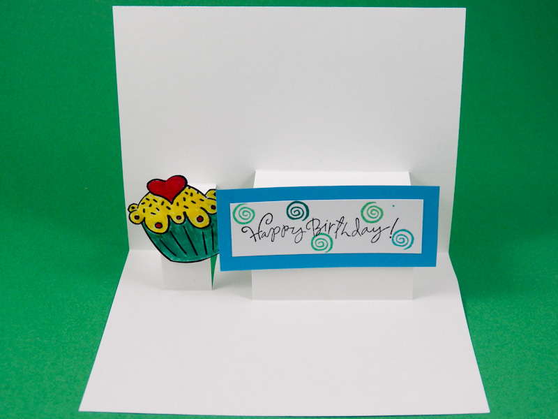 Card making idea step pop up card tutorial greeting card class 2 test pop up mechanism m4hsunfo