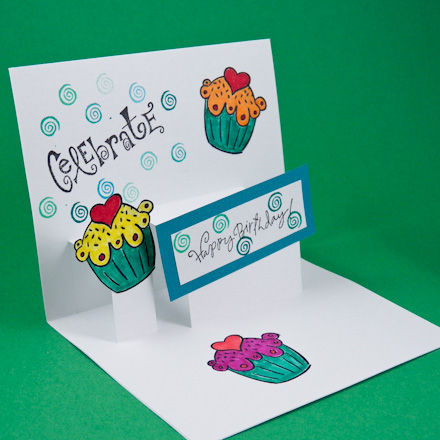 Card making idea step pop up card tutorial greeting card class 2 enlarge m4hsunfo