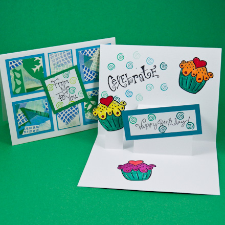 Card Making Idea: Step Pop-Up Card Tutorial - Greeting Card Class 2 ...