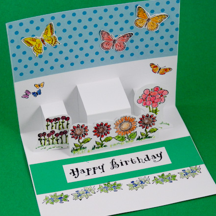 Card Making Idea: Step Pop-Up Card Tutorial - Greeting Card Class 2 ...