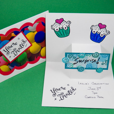 Card Making Idea Step PopUp Card Tutorial Greeting Card Class - How to make a pop up birthday invitation